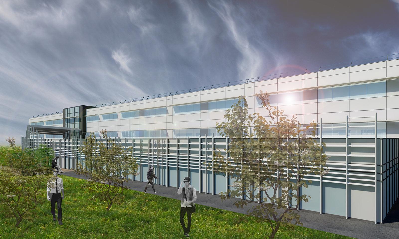 Extension d'un bâtiment de bureaux U Logistique